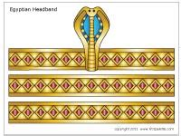 Egyptian Headband   Printable Templates & Coloring Pages   FirstPalette.com
