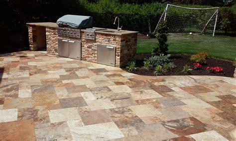 travertine backyard stone sealing for travertine patio in syosset new york by