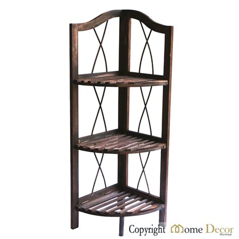 home decor montreal wooden 3 tier corner shelf home decor montreal
