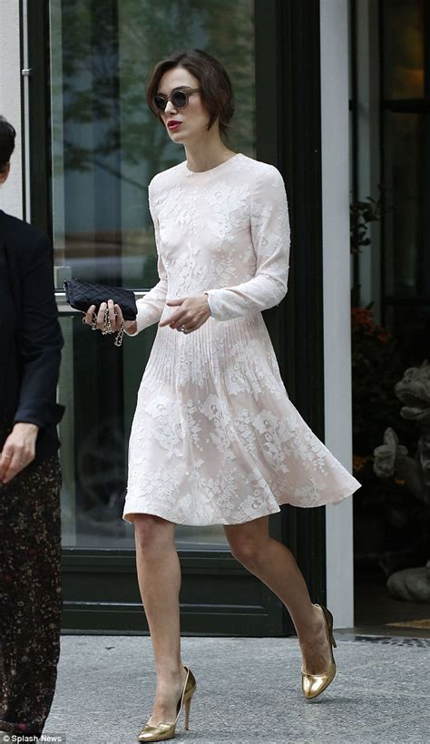 Keira Knightley Is Way by Keira Knightley Steps Out In A Bridal Inspired Dress On