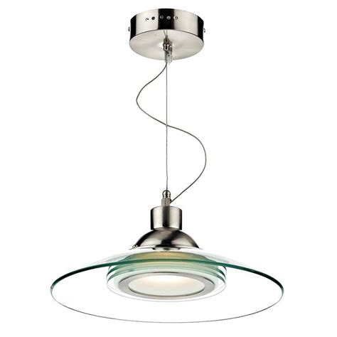 Single Pendant Lights Dar Kasko Led Single Pendant Ceiling Light With Curved Clear Glass Shade Kas012