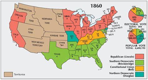 map usa before civil war abraham lincoln american civil war president