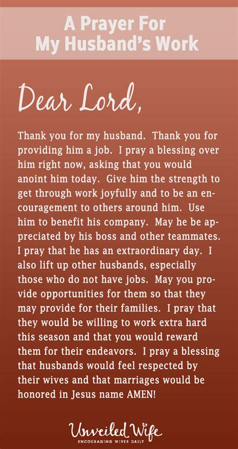 prayer of the day my husband s