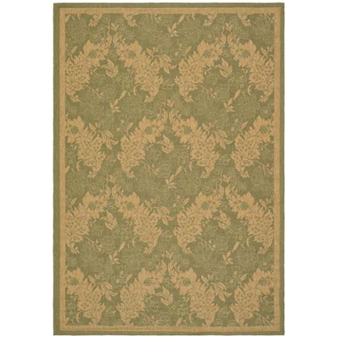 Rugs Made In Belgium by Safavieh Courtyard Green And Rectangular 8 Ft X