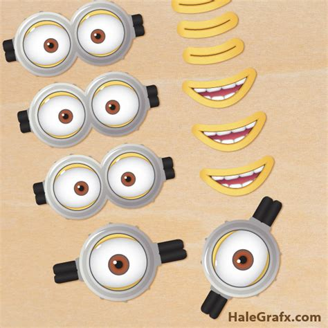 printable minion eyes template free printable despicable me 2 minion goggles and mouths