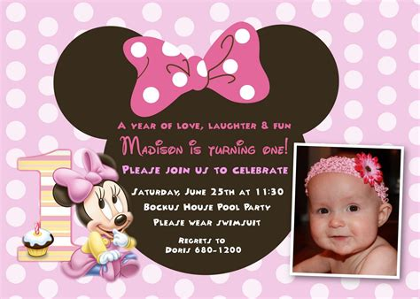 minnie mouse 1st birthday invitations templates minnie mouse 1st birthday invitations birthday