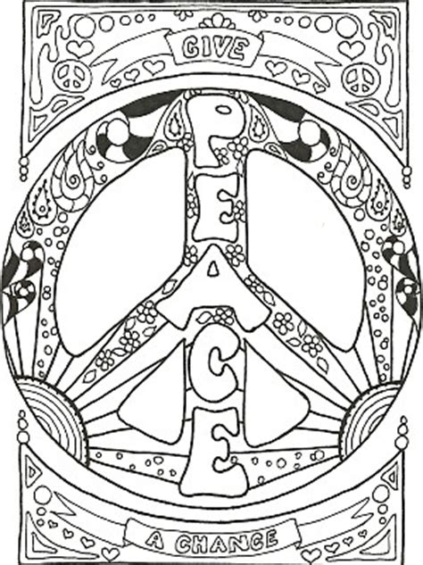 coloring pages for adults peace kay larch studios peace sign art coloring books