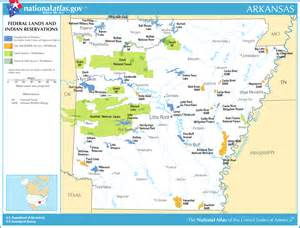 map of arkansas map federal lands and indian reservations