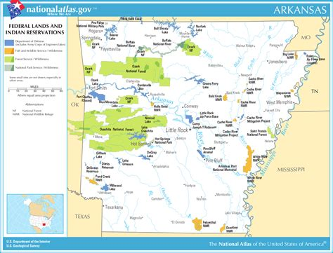 indian reservations usa map map of arkansas map federal lands and indian reservations