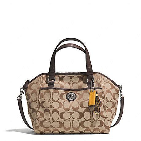 Coach Mini Bennet Signature Mahogani park signature mini satchel f31922 silver khaki mahogany coach handbags satchels www