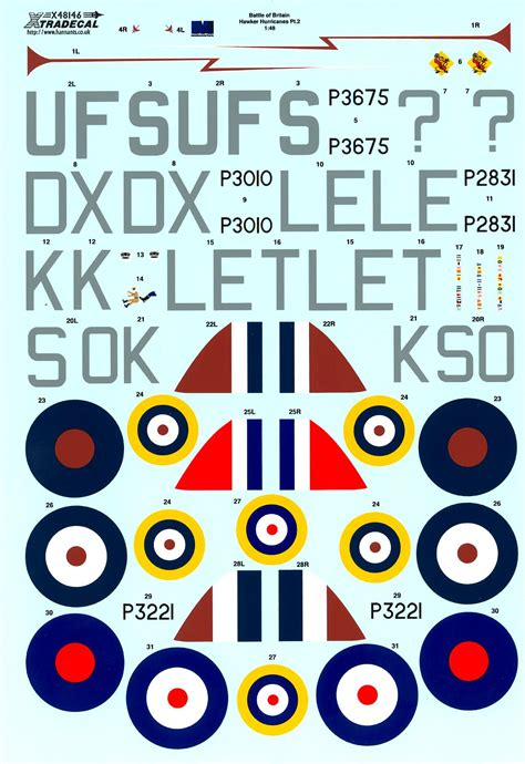 Xtra Decals 1/48 HAWKER HURRICANE Mk.I 75th Anniversary ... Xtra Decals