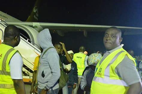 Admonished Criminal Record Photos 262 Stranded Nigerians Return From Libya Get N25 000 Each For Transportation