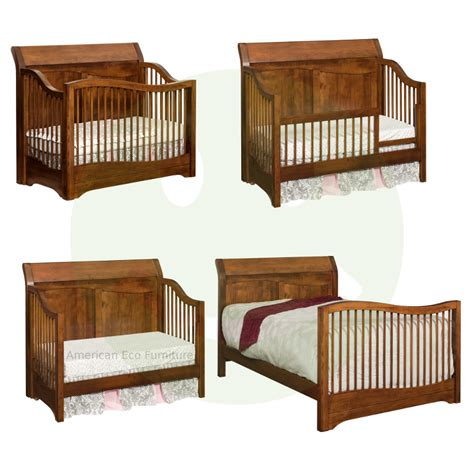 Amish Baby Cribs Amish Trenton4 In 1 Convertible Baby Crib Solid Wood American Made Baby Cribs Warehousemold