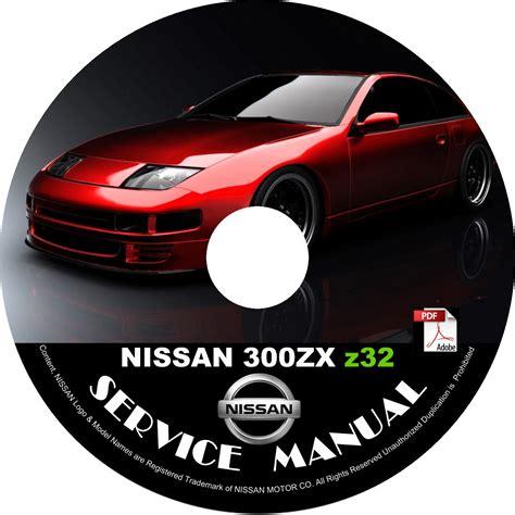 motor repair manual 1991 nissan 300zx user handbook 1996 96 nissan 300zx z32 service repair shop manual on cd vg30de tt