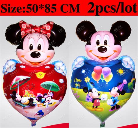Mini Mickey Sz 2 7 Thn 2pcs lot big size mickey mouse and minnie mouse supplies for wedding birthday shape