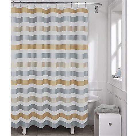 metallic shower curtain maytax dayton metallic stripe peva shower curtain bed