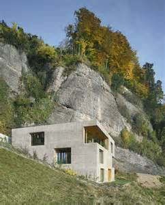 hillside homes hillside home is wood frame construction with concrete facade modern house designs