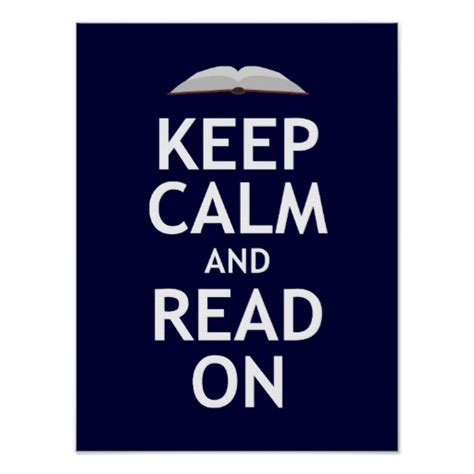 keep calm poster zazzle keep calm and read on poster zazzle
