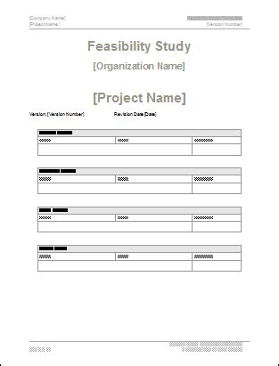 Feasibility Analysis Template feasibility study template