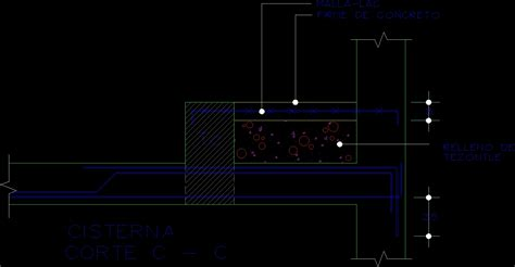 autocad section cistern dwg section for autocad designscad