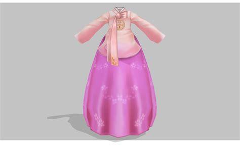 Set Premium Hanbok Asli Korea 4 mmd pink hanbok by amiamy111 on deviantart