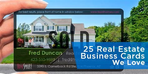 25 real estate business cards we