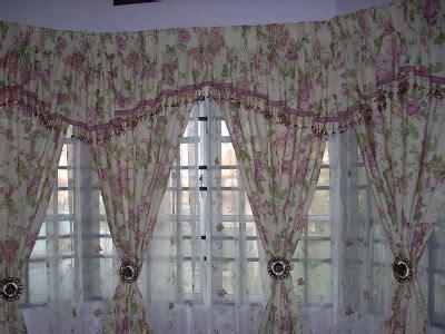 pattern kain langsir cerita ibu curtain bunga bunga cinta