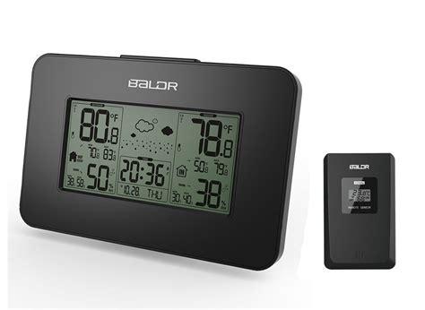 Rumauma Haptime Weather Station Indoor Outdoor Digital Alarm Clock Wi Baldr Lcd Digital Wireless Weather Station Hygrometer Thermometer Indoor Outdoor Temperature