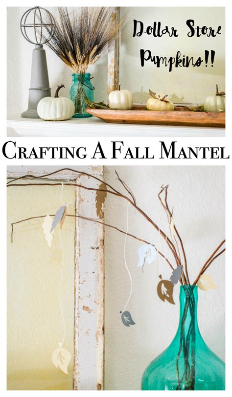 Cricut Home Decor Projects by Fall Craft Ideas For A Mantel Home Decor With A Cricut