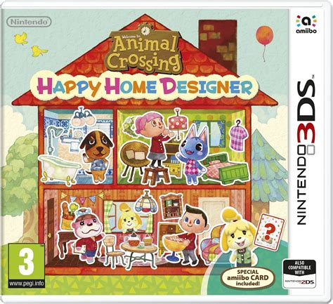 animal crossing home design games animal crossing happy home designer w amiibo card