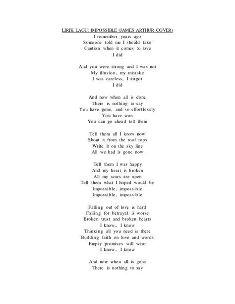 impossible testo lirik lagu