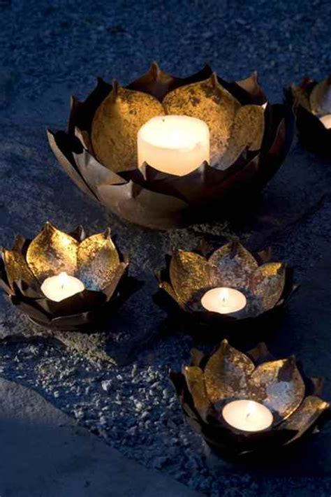 gold lotus candle holders shop nectar home of fair