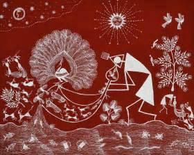 Easy Wall Murals warli tribal painting