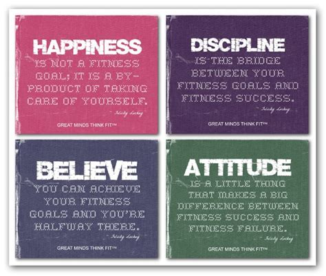 Motivational Fitness Posters with Quotes for Exercise ...