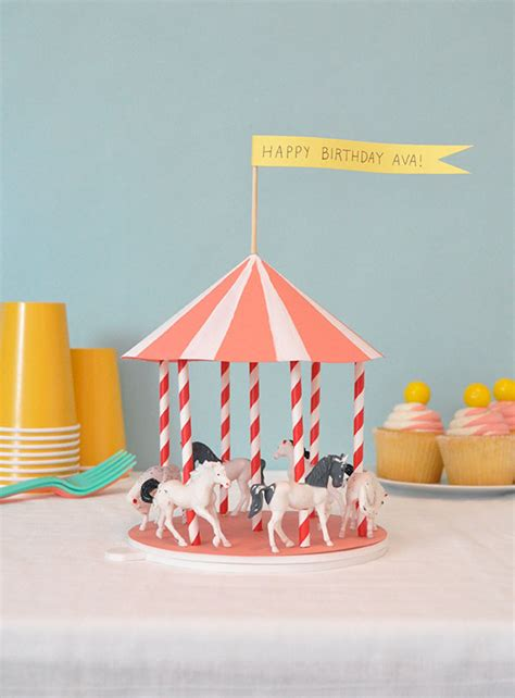 How To Make A Carousel Out Of Paper - spinning carousel centerpiece