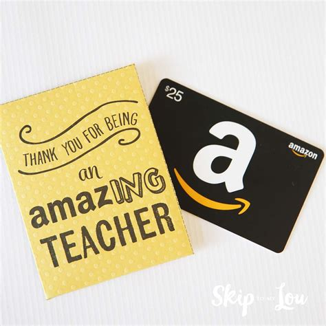 Can You Use Multiple Gift Cards On Amazon - end of the year teacher gifts skip to my lou