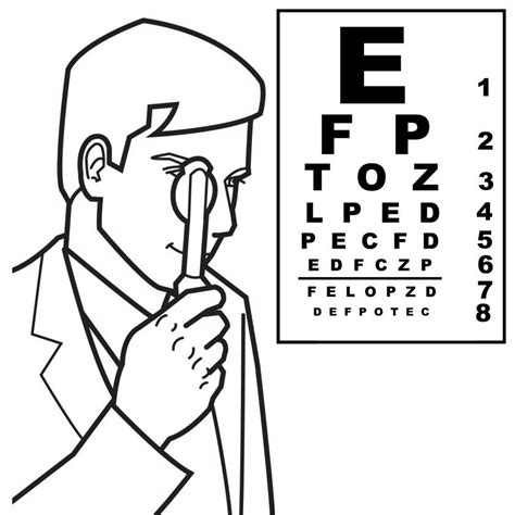 coloring pages eye doctor doctor coloring page coloring home