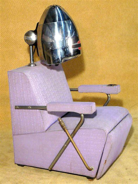 Hair Dryer Chair 1950 s atomic purple salon chair with hair dryer x2