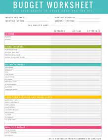 home budget worksheet free printable household budget worksheet