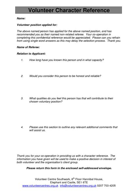 Character Reference Letter Court Uk Free Cover Letters Exles Sles For Format