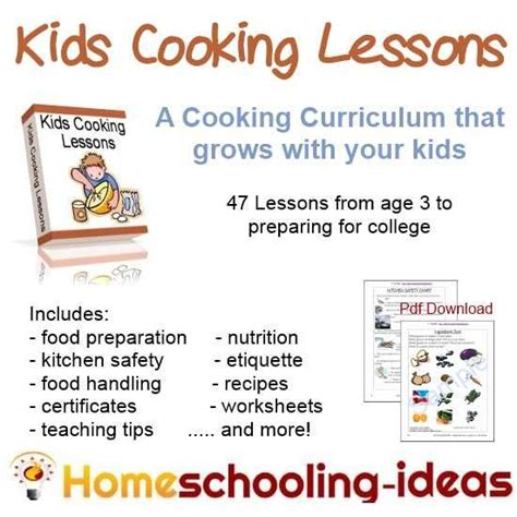 cooking curriculum for high school k to 12 home