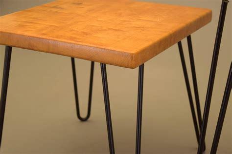 1956 maple table bobby pin legs p w davis vintage mid