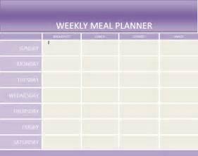 Weekly Dinner Planner Template Weekly Food Planner Images