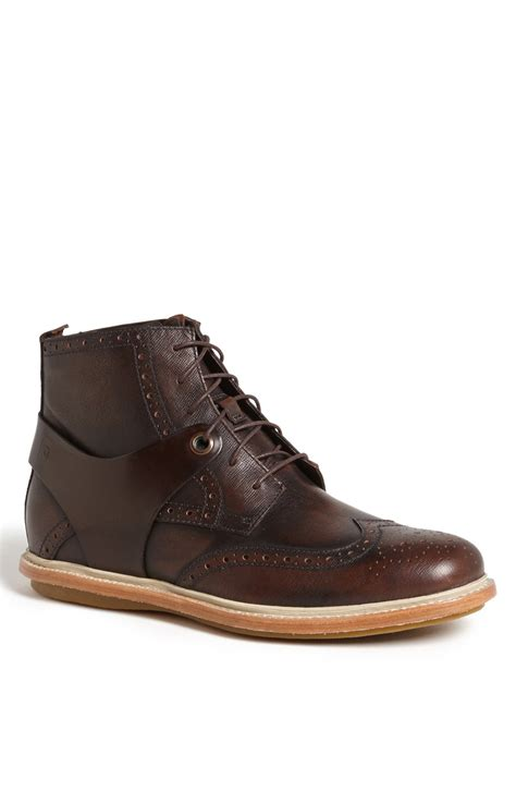 tsubo mens boots tsubo winslow ii wingtip boot in brown for chestnut