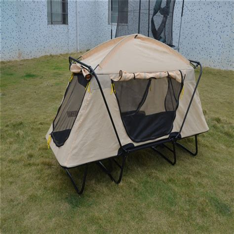 Tenda Anak Ukuran 160 anak anak dukungan aluminium lipat berkemah tempat tidur