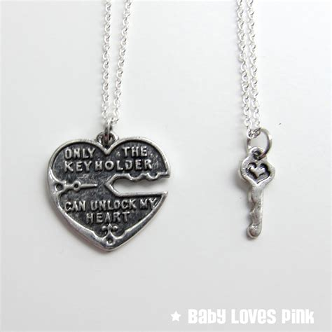 unlock my silver s necklace and key