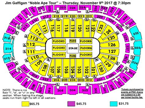 pnc seating chart seating charts pnc arena