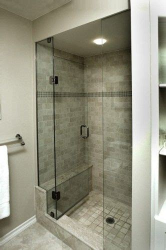 Narrow Shower Door Narrow Bench Idea Note Small Bench And Lip Going Into Shower Guest Shower Tile With Leg