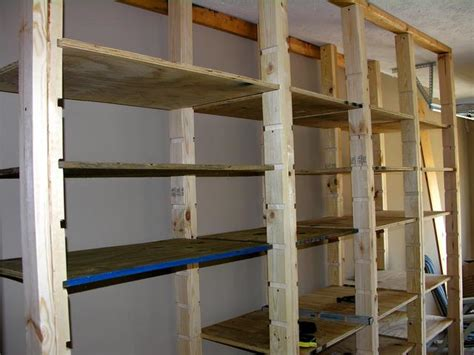 Shelf Building by Build Wood Shelves Your Garage Woodworking Plans