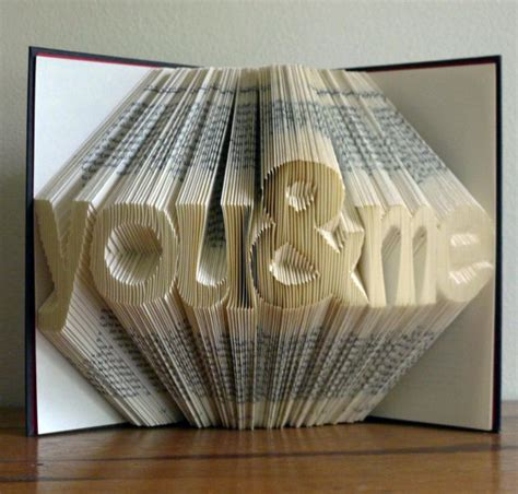 Folding Paper Into A Book - folded book sculpture paper anniversary 1st